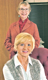 Laura Lyons and Kathryne Salinas.