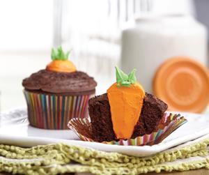 Carrot Garden Easter Cupcakes