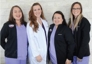 Tiffany Scott, Dr. Jeanna Mascorro, Sheyla Perez and Nicole Peaco.