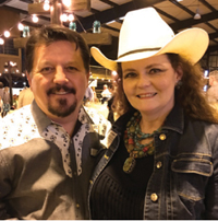 Tim and Patti Kaminski at the Lone Star Stomp benefiting the Fort Bend County Museum Association.