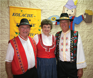 Dennis and Martha Victori with Marvin Adamek at the annual Czech Kolache-Klobase Festival in 2015.