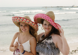 Kassidi and Patti Kaminski in sombreros. Who wore it best? Your vote.