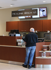 Visitors can grab a quick snack or beverage at the Grand Parkway Café located in the new East Tower.