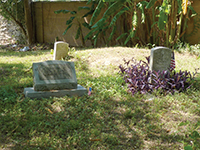 Burial sites at New Home Cemetery.