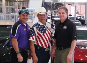 Ray Aguilar, Joe Vera and Don Kerstetter at Classic Chevy Sugar Land.
