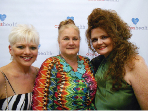 Sharon Hilburn, Leslie Woods and  Patti Parish-Kaminski at AccessHealth's Heart of Fort Bend fundraiser hosted by Sugar Land Face and Body Plastic Surgery.