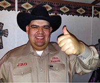 "Johnny ""Rene"" Gonzales, the namesake for the JRG Ranch in East Bernard."