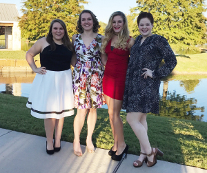 Friends Gracie Wilburn, Haley Garrelts, Hannah Owen and Thora Judson.