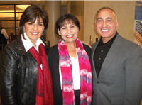 Norma Petrosewicz with Olga and Robert Gracia at the OakBend atrium naming ceremony.