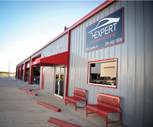 Expert Collision Center's 12,000 square foot Rosenberg facility administers every stage of auto repair.