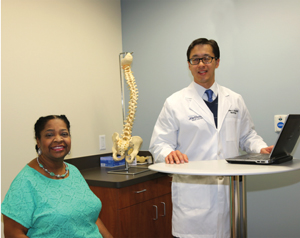 Patient Debbie Gibbs with James Ling, MD.